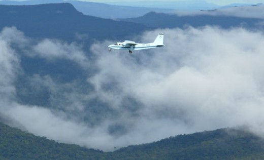 Fly across mile after mile of pristine jungle