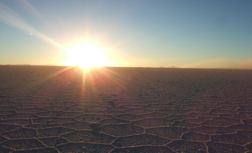 Morning over the remote Salt Flats