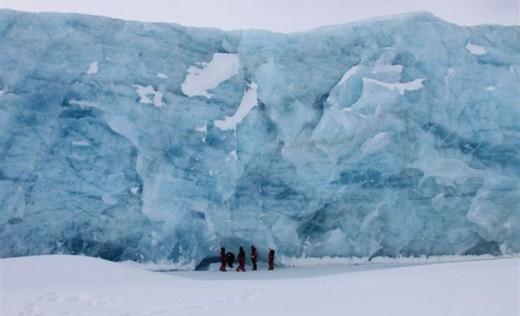 Exploring towering glaciers
