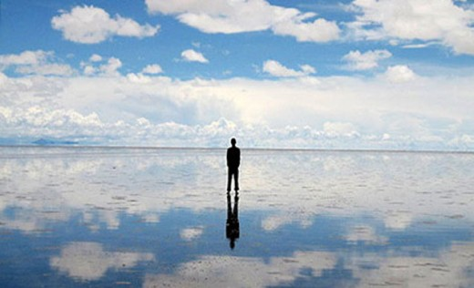 See yourself reflected in the Salar de Atacama