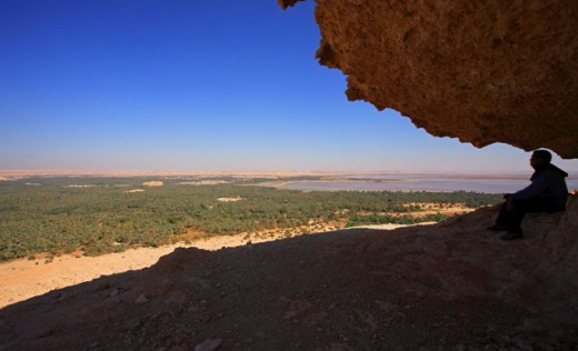 Admire the Siwa Oasis from you private vantage point