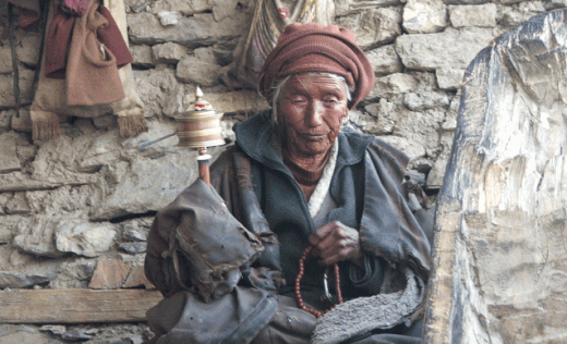 Encounter Buddhist monks as you pass through remote villages