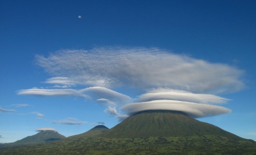 Witness the unique cloud formations over Virunga