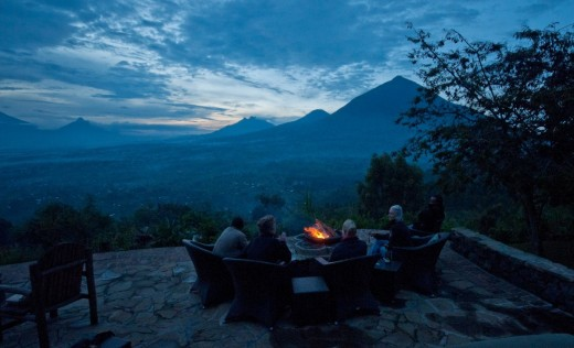Dine over the Virunga mountains
