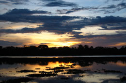 Sunset over the Sepik
